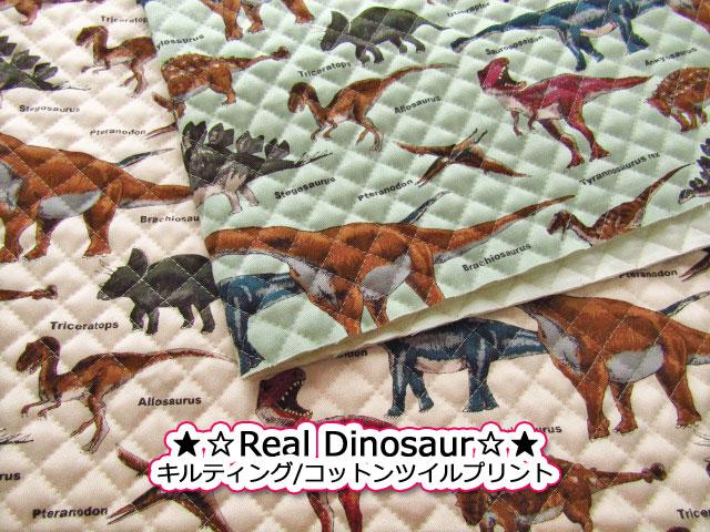 キルティング real Dinosaur リアル ダイナソー コットン